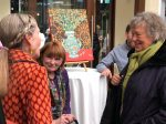 Opening of Passion for Color, an exhibit by Evelyn Berde and curated by ArtsBrookline.