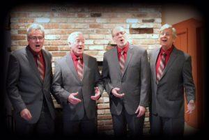 Express Lane Barber Quartet at Coolidge Corner Library, Brookline, Sunday, July 30, 2017