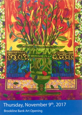 Brookline Bank Art Opening of Gallery Installation, Passion for Color, by Evelyn Berde