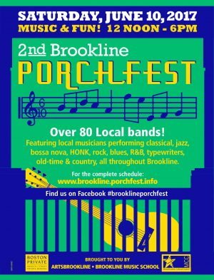 Brookline Porchfest 2017, June 10