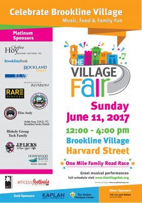Brookline VillageFair, June 11, 2017