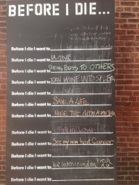 Before I Die Wall June 3 (after the rain!)