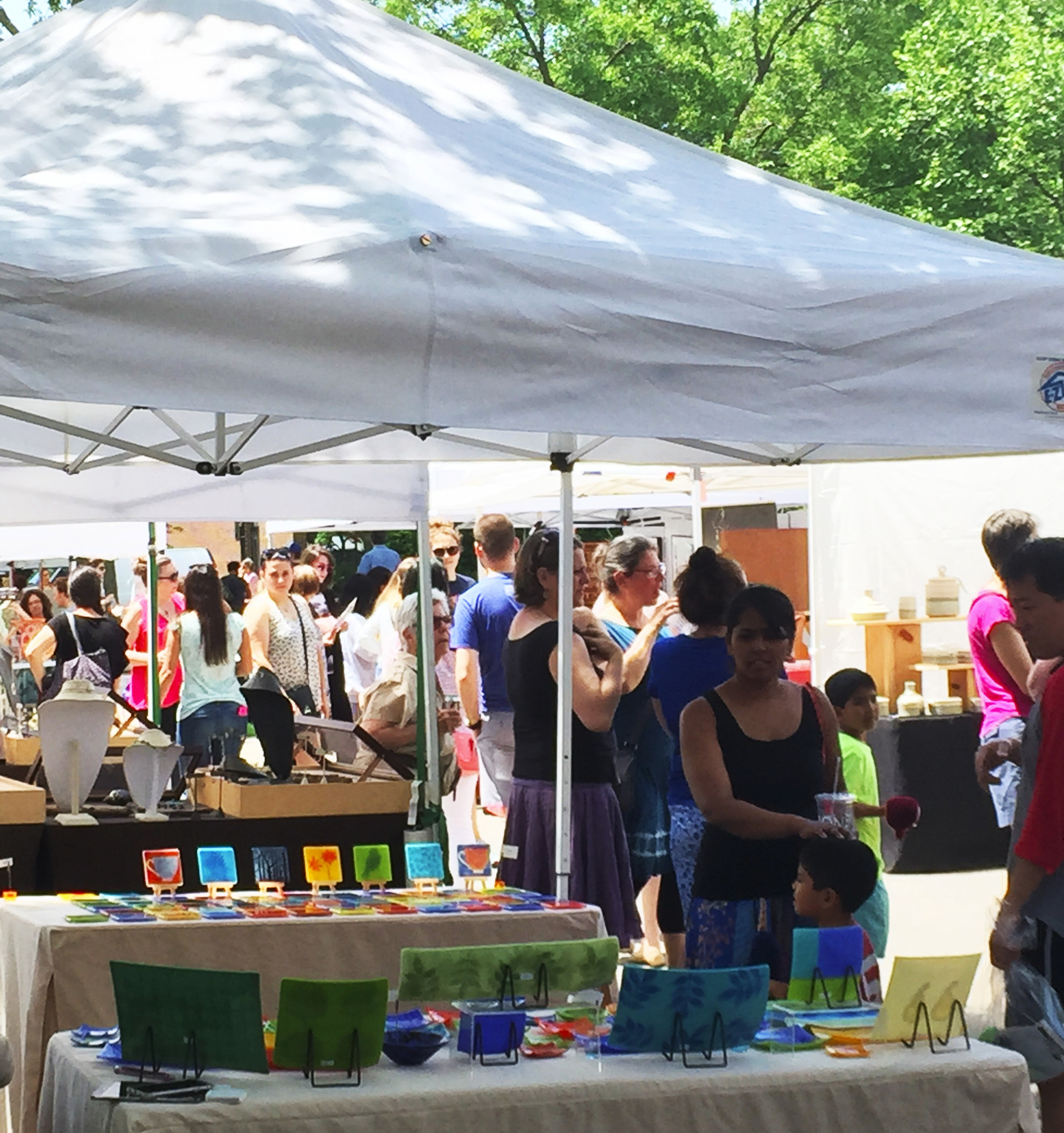 Browsing and buying at the 38th Annual Coolidge Corner Arts Festival