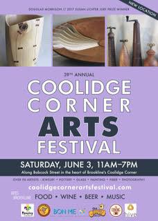 Coolidge Corner Arts Festival, Saturday June 3, 2017, Brookline