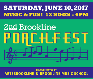 Brookline Porchfest held on porches all over Brookline, Saturday, June 10, 2017