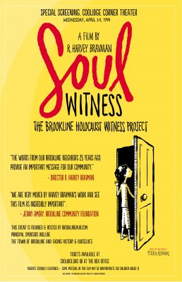 Soul Witness, The Brookline Holocaust Witness Project