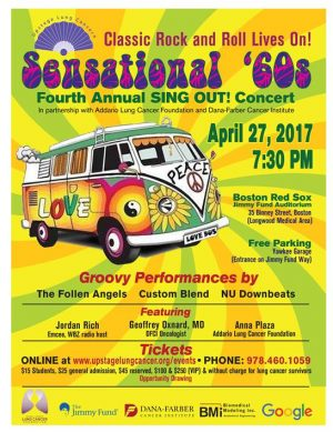 Sensational 60s, Sing Out for Lung Cancer at the Boston Red Sox Jimmy Fund Auditorium, April 27, 2017